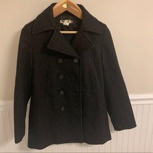 J. CREW charcoal wool blend coat